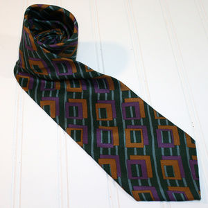 KENNETH COLE Abstract Geometric Silk Neck Tie